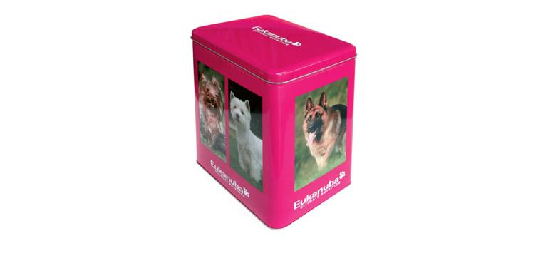 <b>Auftraggeber:</b> Procter & Gamble, Schwalbach, Eukanuba Schmuckdose für Hunde-Trockenfutter, <b>Gestaltung</b>