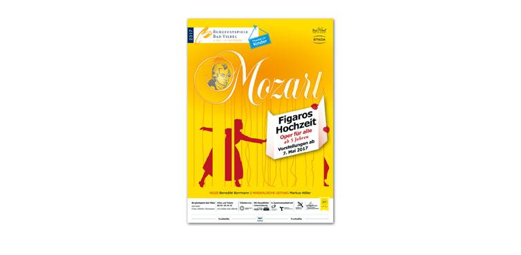 <b>Auftraggeber:</b> Förderverein Burgfestspiele Bad Vilbel, Poster für Mozarts