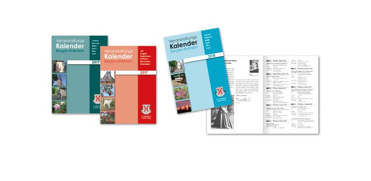 <b>Auftraggeber:</b> Vereinsring Bergen-Enkheim, Frankfurt am Main, zwei mal jährlich erscheinender Veranstaltungskalender mit den Terminen und Kontaktdaten aller Vereine und Institutionen.